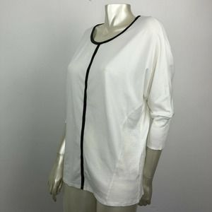 Two By Vince Camuto Large White Dolman Sleeve Top